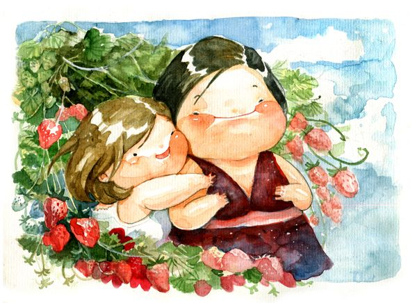 Chibi watercolor by Le Thu, via Behance