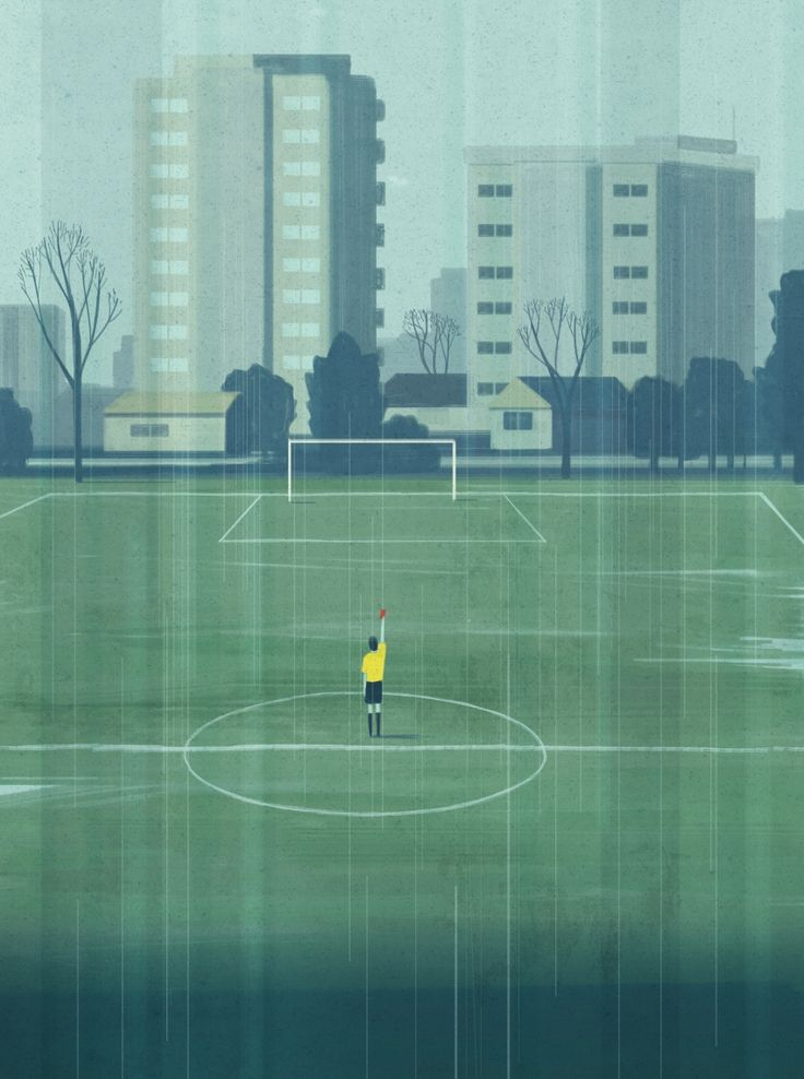 The life of football referee, illustration for Esquire UK http://www.emilianoponzi.com/portfolio/my-life-as-referee