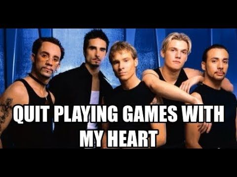quit playing games with my heart backstreet boys piano. Black Bedroom Furniture Sets. Home Design Ideas