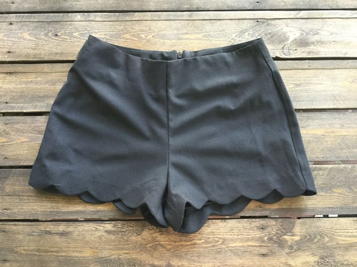 These shorts feature a scalloped edged along the bottom. Very cute for summer!