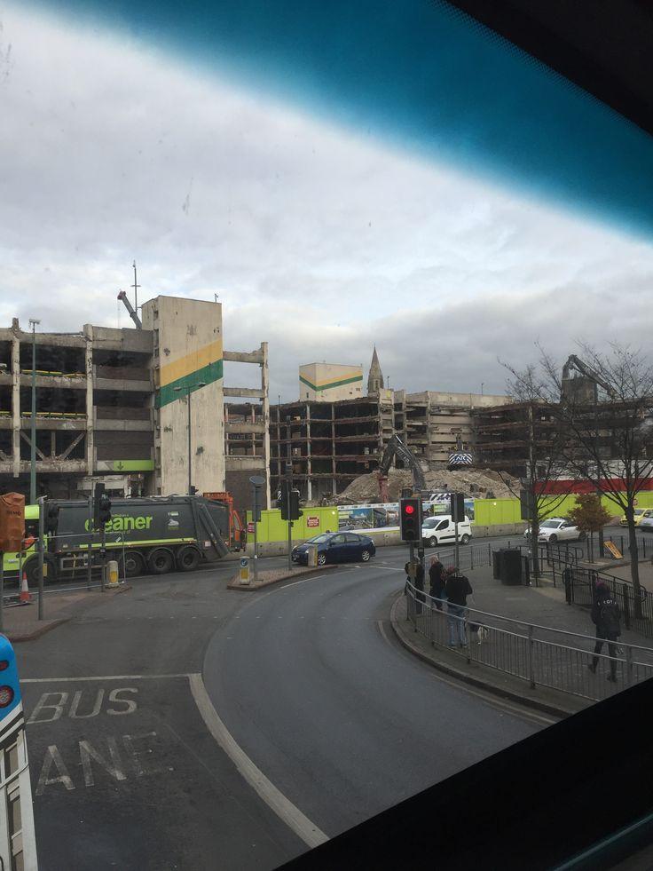 Demolition off Broadmarsh car park 2017