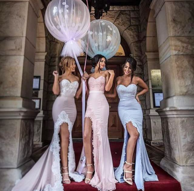 Sweetheart Mermaid Prom Dresses ,Side Slit Bridesmaid Dresses,Fashion Prom  Dresses,Most Popular Elegant Formal Bridesmaid Gown ,Dresses for Wedding  Party