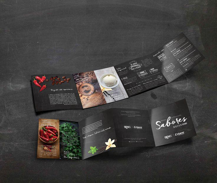Folder da Mostra de Decoração Sabores criado pela Agência Conceito para a Sense Home Design.