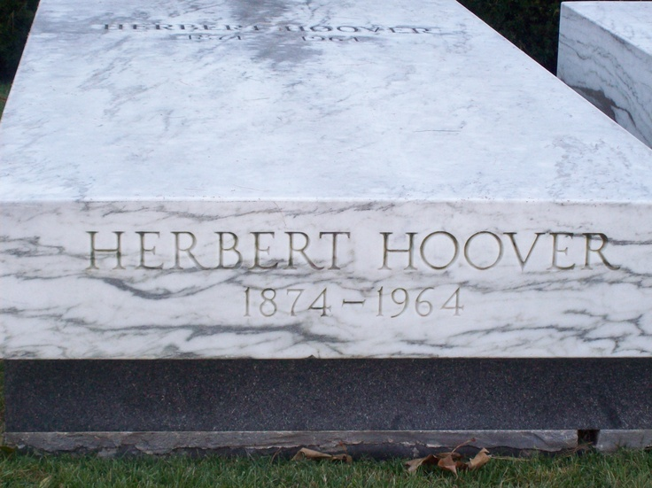 Herbert Hoover's grave in Iowa, near his birthplace