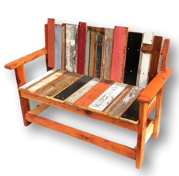 25+ Best Ideas About Reclaimed Wood Benches On Pinterest
