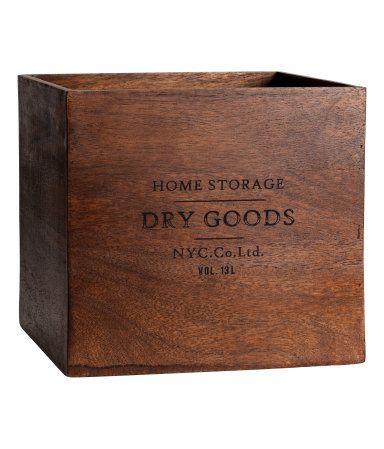 Large Wooden Box | Dark brown | H&M HOME | H&M US