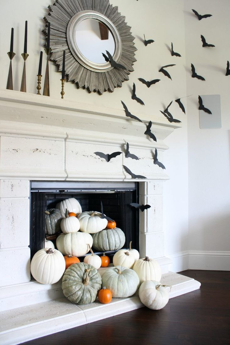 Simple Halloween Decorations With Images Halloween Mantle