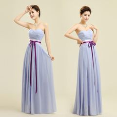 Лу Лу фиолетовый платье невесты невесты свадебный тост служил бюстгальтер короткий параграф невесты костюмов платье Миссию