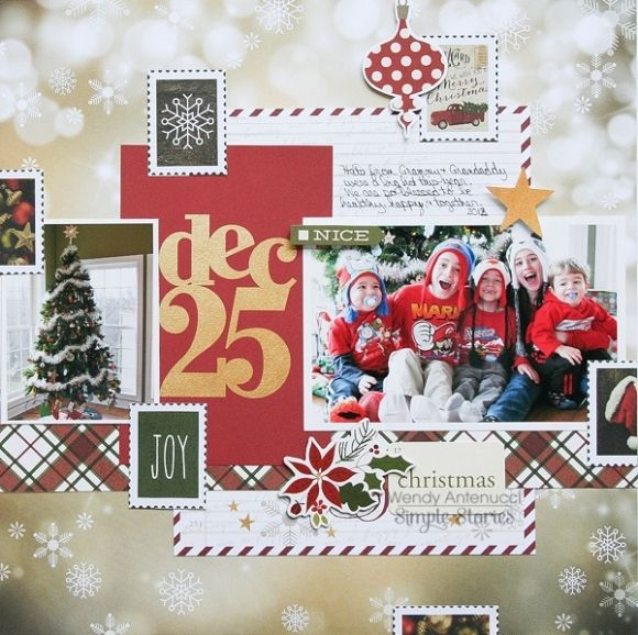 #papercrafting #scrapbook #layout idea: Layout created by Wendy Antennucci