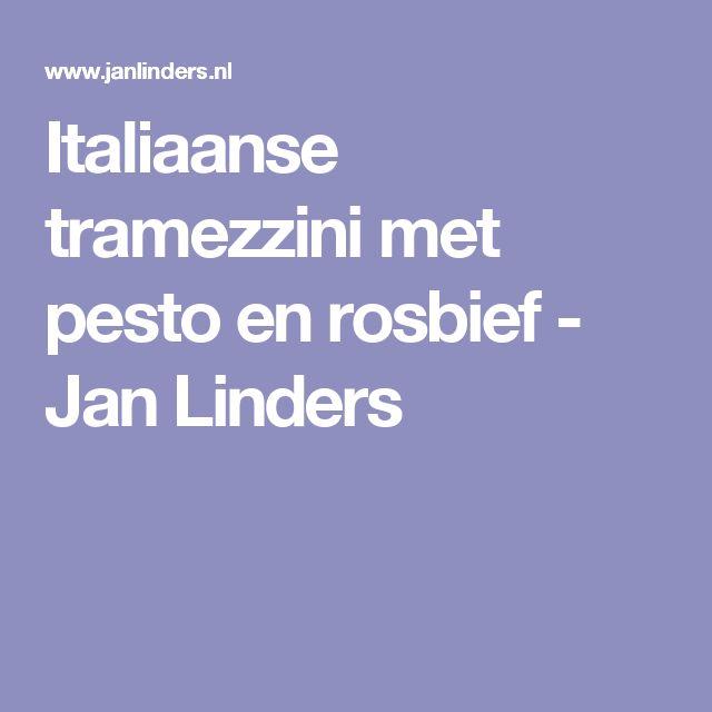 Italiaanse tramezzini met pesto en rosbief - Jan Linders