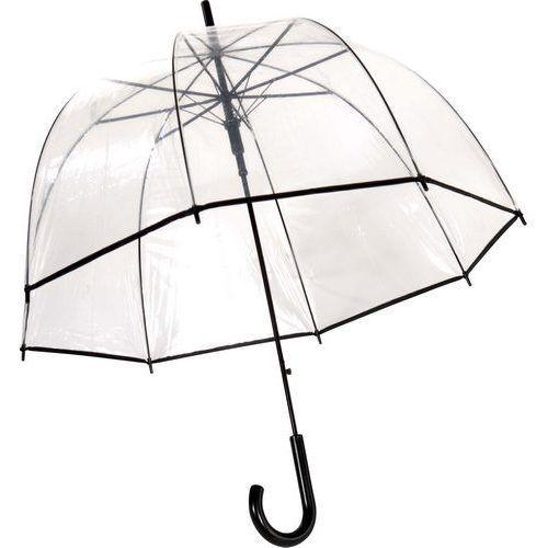 Parapluie transparent cloche liseret noir