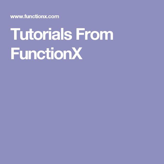 Tutorials From  FunctionX