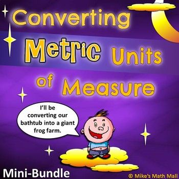 Check out this awesome mini-bundle that covers converting basic Metric Units of Measure.Included in this bundled unit: The very engaging, interactive, and easy-to-understand 17-slide PowerPoint will walk learners through: -Basic Metric terminology -Why we convert units -Converting Metric Units for: Length, Capacity, and Mass (Using the metric conversion ladder – kids love the ease of this) ...