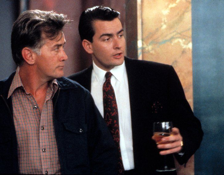 Pin for Later: The Dads and Kids Who Have Been in Movies Together Martin and Charlie Sheen The 1987 classic Wall Street gave Charlie Sheen a memorably '80s role, but do you remember that dad Martin played his dad in it, too?