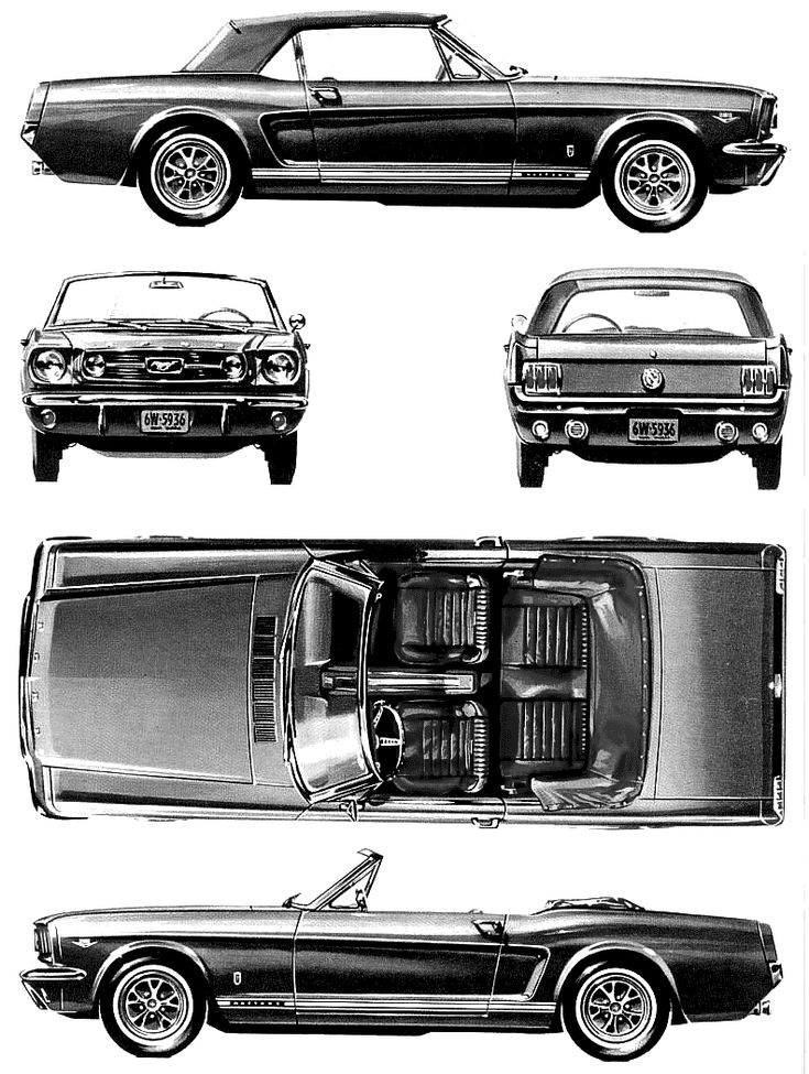 1966 Ford Mustang GT Convertible blueprints
