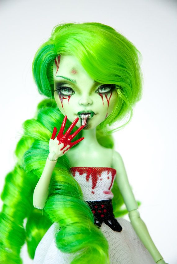 Lethe  OOAK Monster High Venus Repaint by ColourToTheBone on Etsy