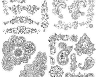 Sketched Flowers cliparts spring flowers cliparts by DesignOnALara