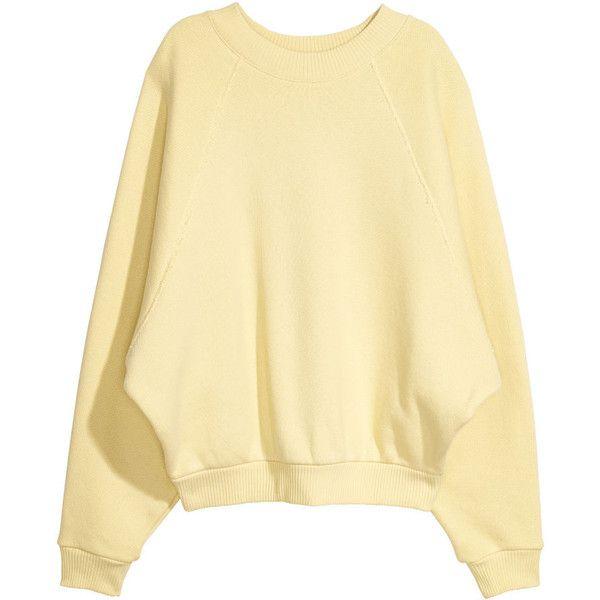 Oversized Sweatshirt $49.99 (2.830 RUB) ❤ liked on Polyvore featuring tops, hoodies, sweatshirts, raglan sleeve sweatshirt, beige sweatshirt, raglan sleeve top, raglan top and beige top