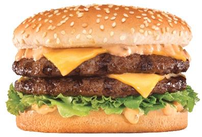The Big Carl at Carl's Jr. Who wants a third bun, anyway?