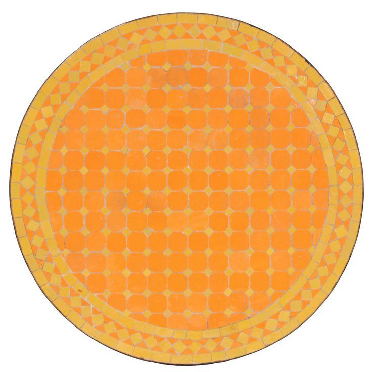 """Marokkanische Mosaik-Tischplatten, in reiner Handarbeit hergestellt. """"Metak"""" 60cm. albena-shop.de"""