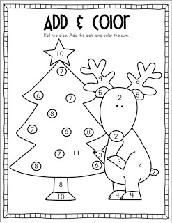 Christmas Add & Color game by Mrs. Ricca's Kindergarten: Christmas Crafts & Freebies!