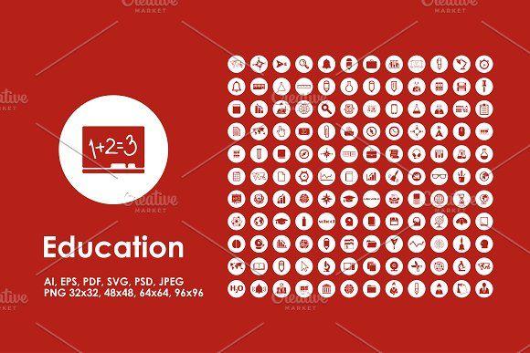 Education Icons Education Icon Educational Infographic Web Icons