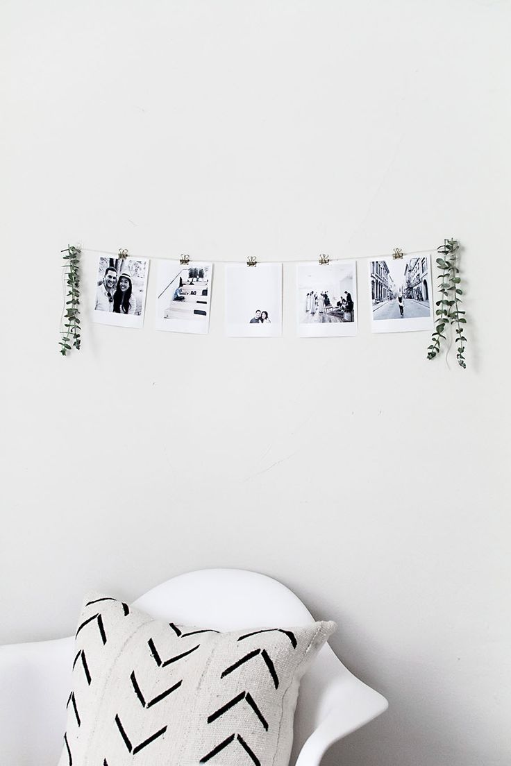 instant film style photo garland diy                                                                                                                                                                                 More