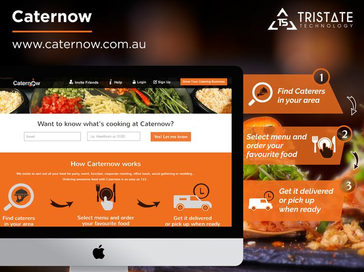 TriState Technology has recently developed Food & Restaurants App named 'Caternow'.This App is specially built for caterers, restaurants, cafes, food trucks and wine suppliers.Using this App one can manage following things. 1) Can check your order like Pending, Accepted, Completed 2) Can Update Profile details like name, address, contact no 3) Menu items listing  4) Can view Favourite Food category vice. 5) Can add and review Pickup address and  Delivery suburbs.