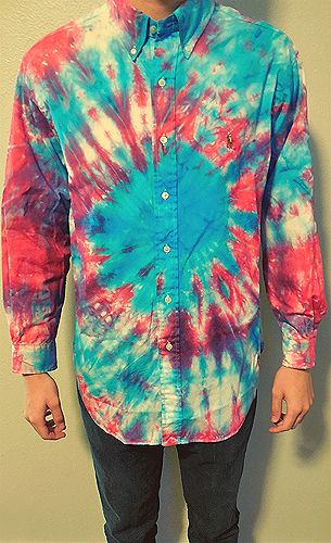 Support a child in Uganda by purchasing a vintage tie dye shirt from dyehardclothing // Purchase Here: