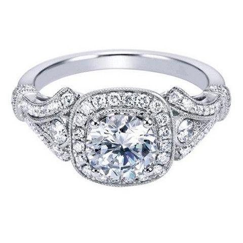 "Ben Garelick Royal Celebrations Diamond ""Adela"" Halo Engagement Ring"