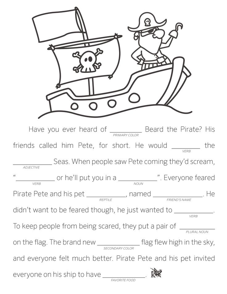 Make Your Own Fill in the Blank Stories Pictures, Songs