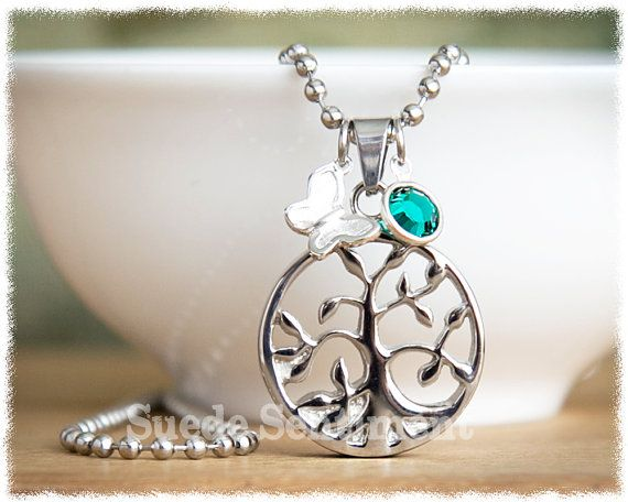 Tree of Life Cremation Necklace  Cremation by SuedeSentiment