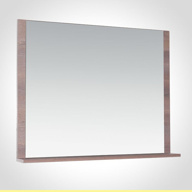 Rococo 900mm mirror with shelf brown wenge finish