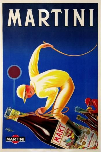 Vintage Italian Posters ~ #Vintage #Italian #posters ~ Martini poster by Droit