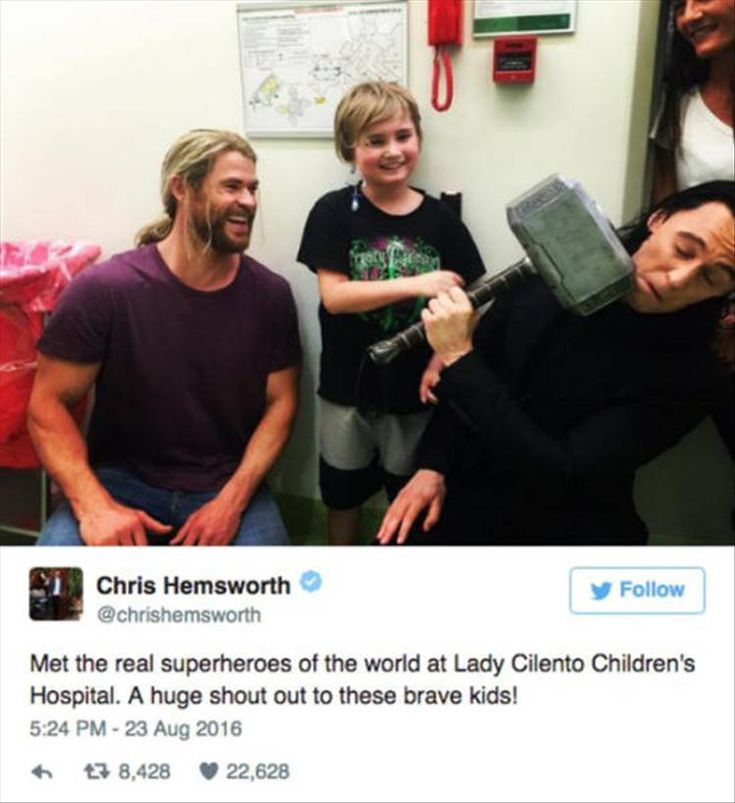 Loki And Thor Visit A Kid's Hospital - 9 Pics