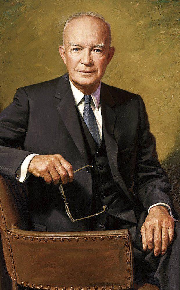 Portrait of President Dwight D. Eisenhower, 34th President (1953-1961).