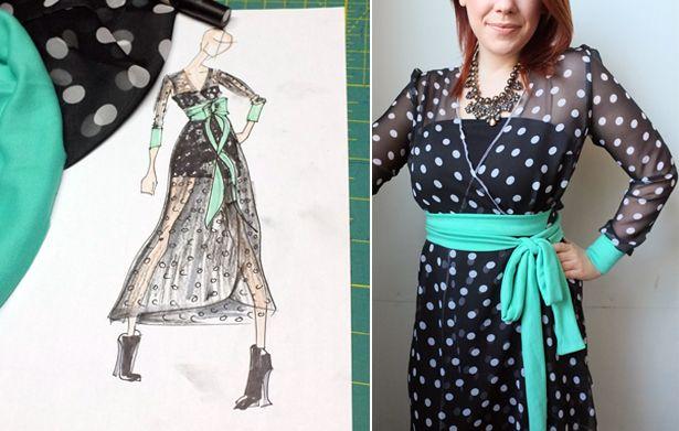 Meg's Magazine Mash Up 2014: Wrap Dress Project Done! – Sewing Blog | BurdaStyle.com