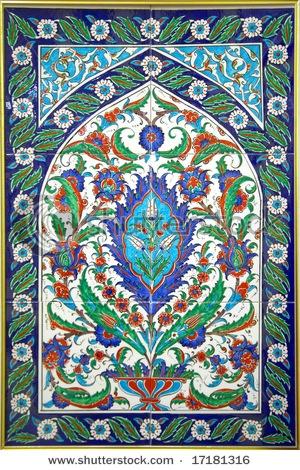 Turkish tile mosaic