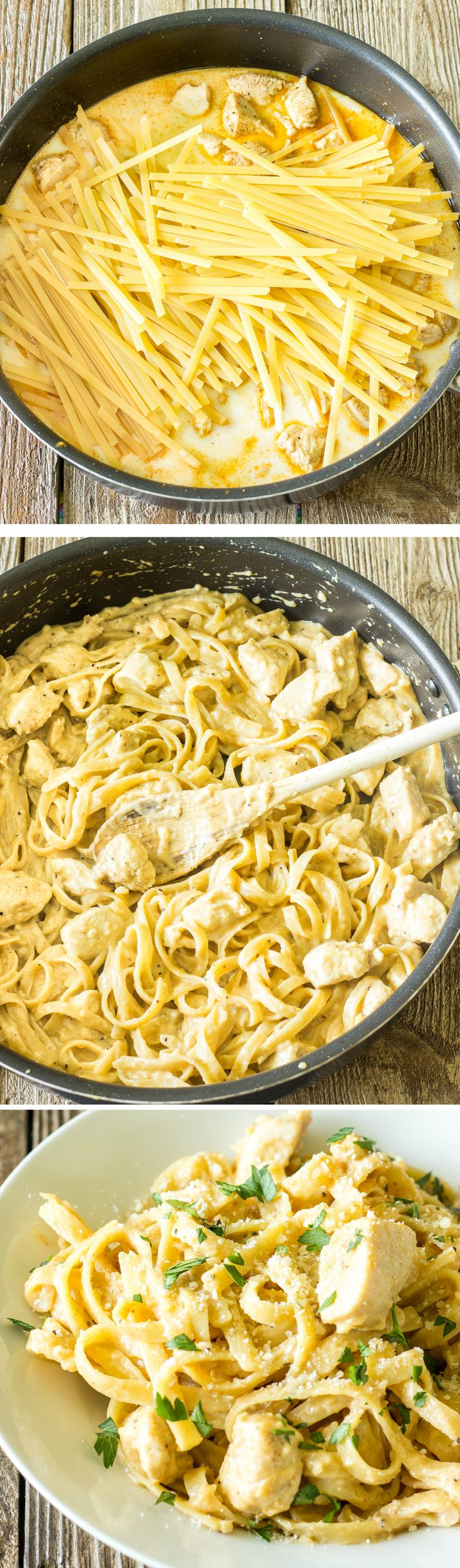 I am all about one dish meals and this Cajun Alfredo Chicken looks delish.