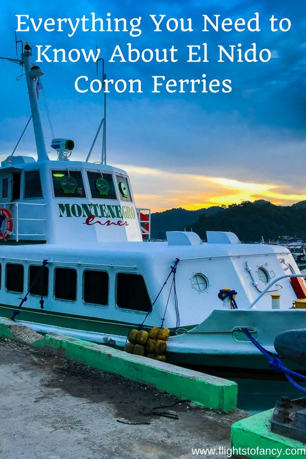 Wondering which El Nido to Coron ferry to book? After carefully considering the options, we chose Montenegro Lines. The trip from El Nido port to Coron was just 3 1/2 hours. Find out all your options here... #philippines #palawan #elnido #coron #elnidocoronferry #philippinesferry