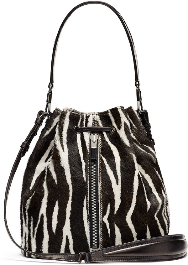 Designer Handbag Sale: ELIZABETH & JAMES Cynnie Zebra Bucket Bag