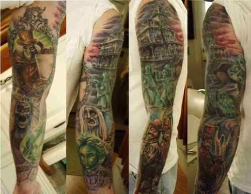 sweetest Haunted Mansion tattoo I've seen