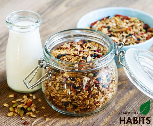 Toasted Turmeric Muesli.  A wonderful, nutritious and delicious way to start your day.... full of nutrients including magnesium, iron, manganese, copper, potassium, phosphorous, antioxidants, essential fatty acids and anti-inflammatory properties from the coconut oil, turmeric, cinnamon and other wonderful ingredients