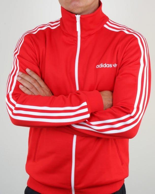 Adidas Beckenbauer, Track Top, Red, jacket, Originals