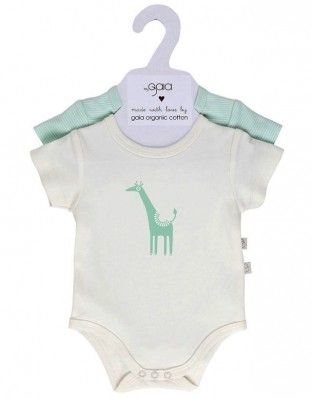 mint stripe and giraffe set