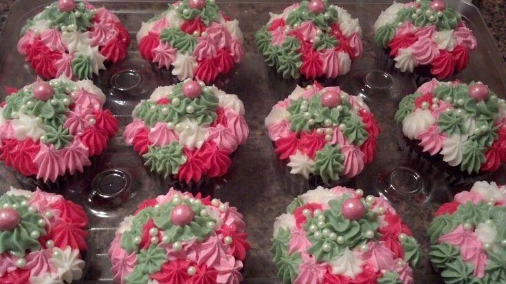 Pink Camo Cupcakes