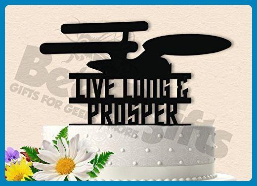 Live Long and Prosper Star Trek Wedding Cake Topper - Cake and cupcake toppers (*Amazon Partner-Link)