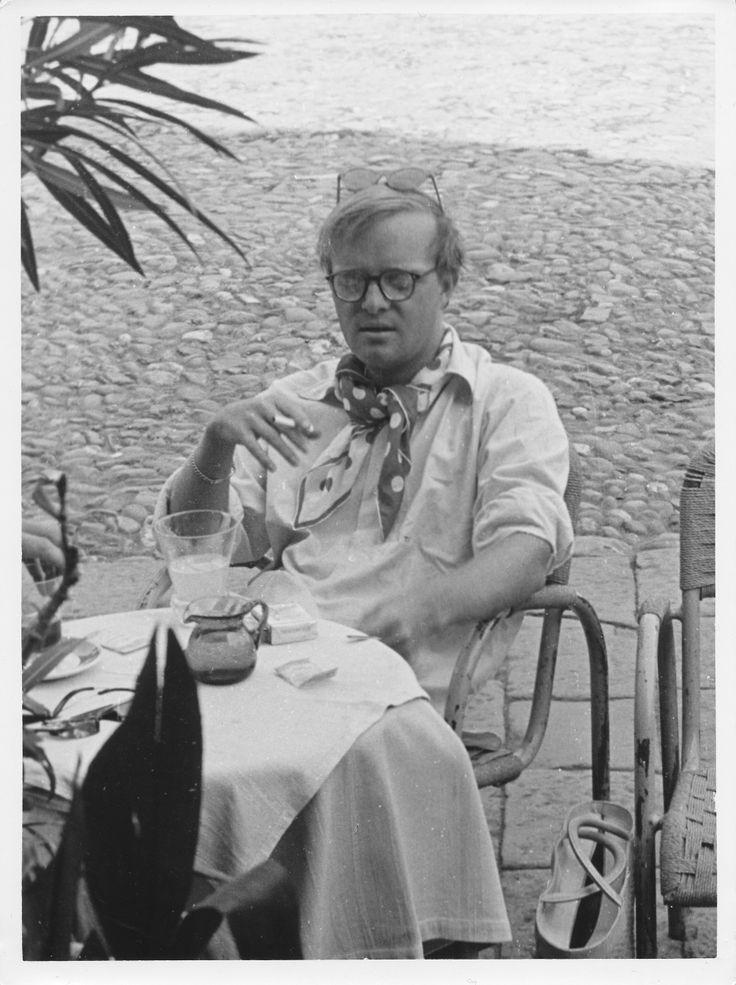 Truman Capote a Portofino nel 1953 #Trumancapote #Portofino #Liguria #Piazzetta