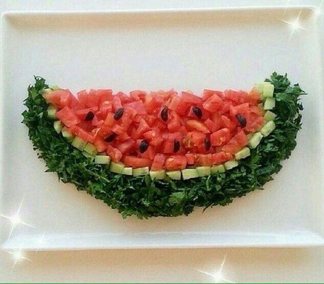 Domates maydanoz salatalık