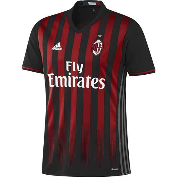 Ac Milan 16 17 Home Jersey Camisetas De Fútbol Camisetas Playeras De Futbol